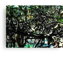Tropical Tree Tangle - Natural Canvas Print