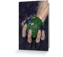 Death of a small planet Greeting Card