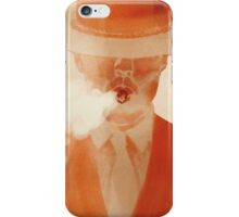 smoking man with a hat iPhone Case/Skin