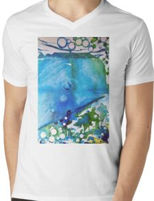 Ice Caps, Ice Bubbles, Environment Mens V-Neck T-Shirt