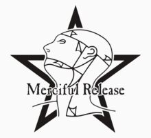 The Sisters Or Mercy - Merciful Release Logo (Black on White) by James Ferguson - Darkinc1