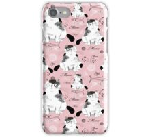 pattern with cats  iPhone Case/Skin