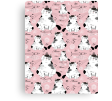 pattern with cats  Canvas Print