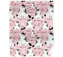 pattern with cats  Poster