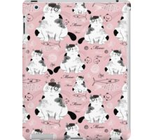pattern with cats  iPad Case/Skin