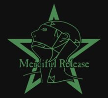 The Sisters Or Mercy - Merciful Release Logo (Green on Black) by James Ferguson - Darkinc1
