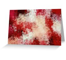 red and white flowers abstract background Greeting Card