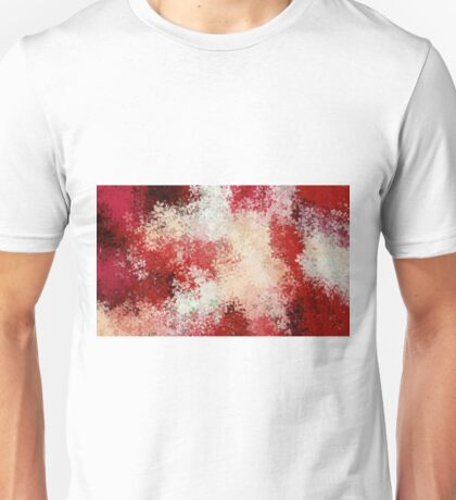 red and white flowers abstract background Unisex T-Shirt