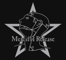 The Sisters Or Mercy - Merciful Release Logo (Grey on Black) by James Ferguson - Darkinc1
