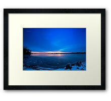Near Winter Solstice Sunrise (HDR) Framed Print