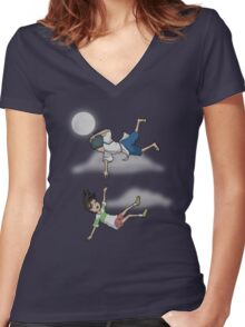 Falling Women's Fitted V-Neck T-Shirt