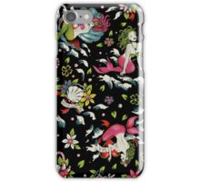 Summer Tail (on black) iPhone Case/Skin