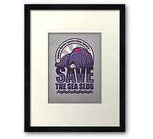 Save the Sea Slug Framed Print