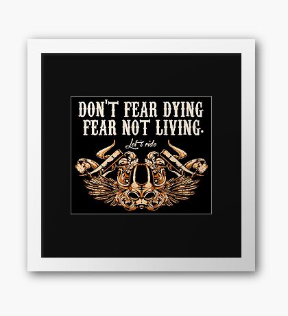 Motorcycle Stickers and T-shirts  Framed Print