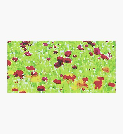 red yellow and green nature abstract background Photographic Print