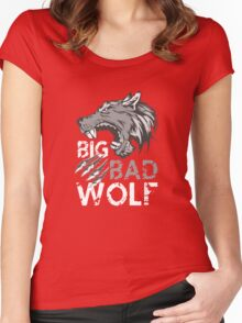 Big Bad Wolf T-Shirt Women's Fitted Scoop T-Shirt