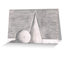 cylinder Greeting Card