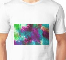 blue pink red purple and green flowers abstract background Unisex T-Shirt