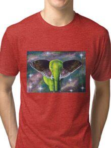 Galaxy Elephant Tri-blend T-Shirt