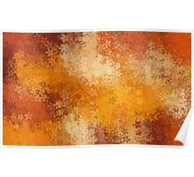 brown and orange flowers abstract background Poster