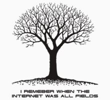 I Remember When The Internet Was All Fields - Middle Age (Black On White) by James Ferguson - Darkinc1