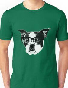 Boston terrier glasses  Unisex T-Shirt
