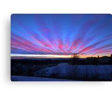 I Miss The Sunsets Of Alberta Canvas Print
