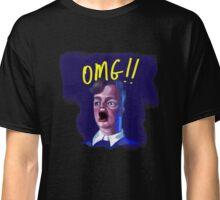 OMG!! Dude in Shock Funny Caricature Meme T-Shirt Classic T-Shirt