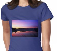 Sunset On George Lake Womens Fitted T-Shirt