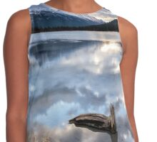 A Lake of Clouds and Mountains Contrast Tank
