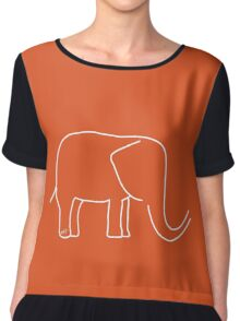 For the love of Elephants Chiffon Top