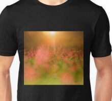 Pink Flower Garden - Heaven's Light and Wonder of Color Unisex T-Shirt