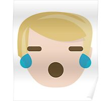 "Donald ""The Emoji"" Trump Teary Eyes and Sad Face Poster"