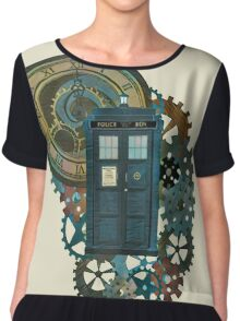 TARDIS Art Doctor Who  Chiffon Top