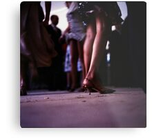 Young lady dancing in Spanish wedding party dance Hasselblad  analog film still life photo Metal Print