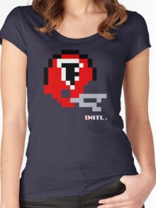 ATL Vintage Helmet - Tecmo Bowl Shirt Women's Fitted Scoop T-Shirt