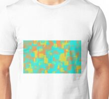 blue orange and yellow square pattern abstract background Unisex T-Shirt