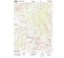 USGS TOPO Map California CA Tower Peak 20120305 TM geo Photographic Print