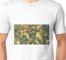 green and brown square painting abstract background Unisex T-Shirt