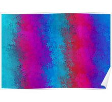 blue red pink and purple flowers abstract background Poster
