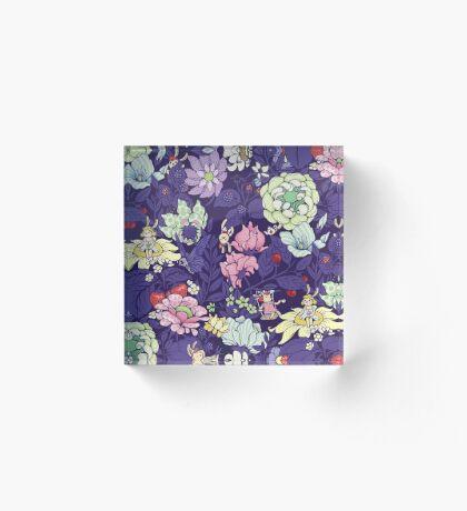 The Garden Party - blueberry tea version Acrylic Block