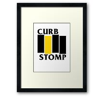 Curb Stomp Framed Print