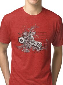 Flying Biker Stickers - Motorcycle T-shirts Tri-blend T-Shirt