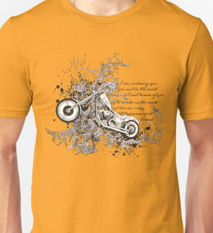 Flying Biker Stickers - Motorcycle T-shirts Unisex T-Shirt
