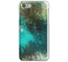 green blue and brown flowers abstract background iPhone Case/Skin