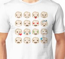 """Hillary """"The Emoji"""" Clinton 16 Different Facial Expressions Unisex T-Shirt"""