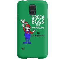 Green Eggs and Mushrooms Samsung Galaxy Case/Skin