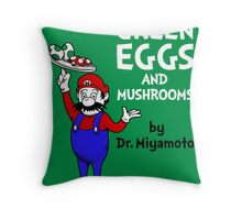 Green Eggs and Mushrooms Throw Pillow