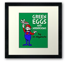 Green Eggs and Mushrooms Framed Print