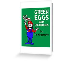 Green Eggs and Mushrooms Greeting Card